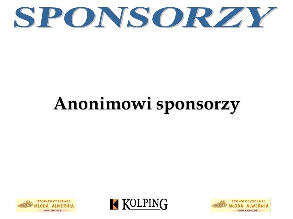 SPONSORZY Anonimowi sponsorzy