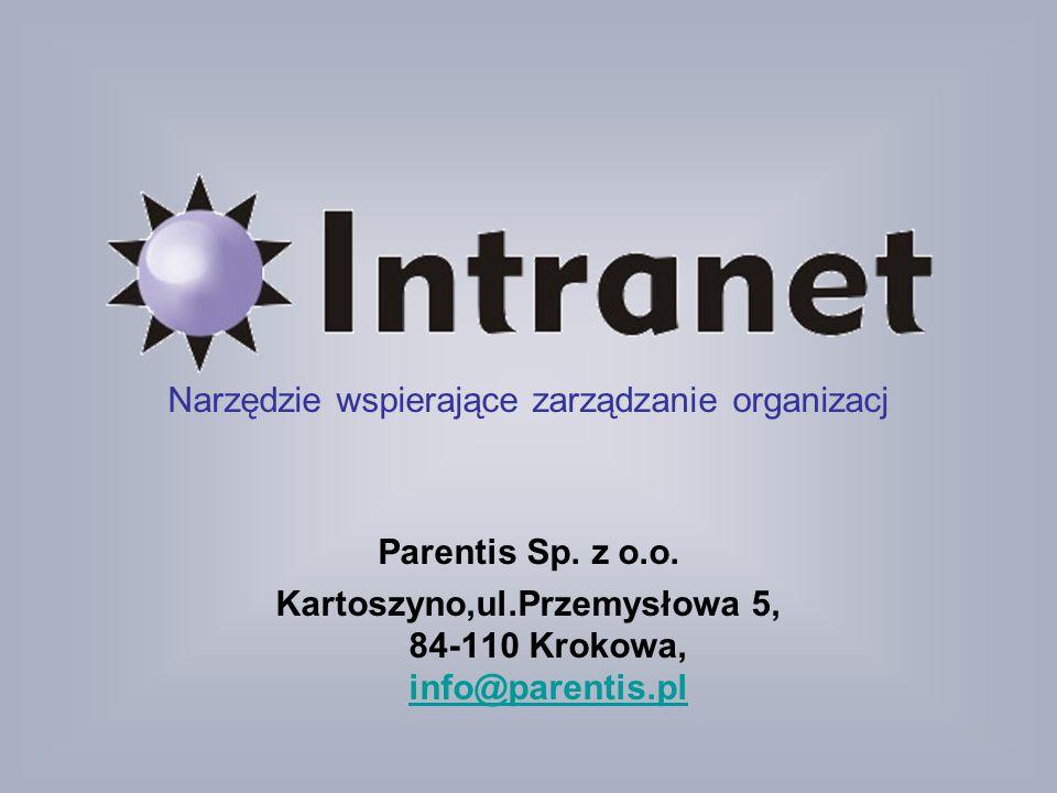 Narzędzie wspierające zarządzanie organizacj Parentis Sp. z o. o