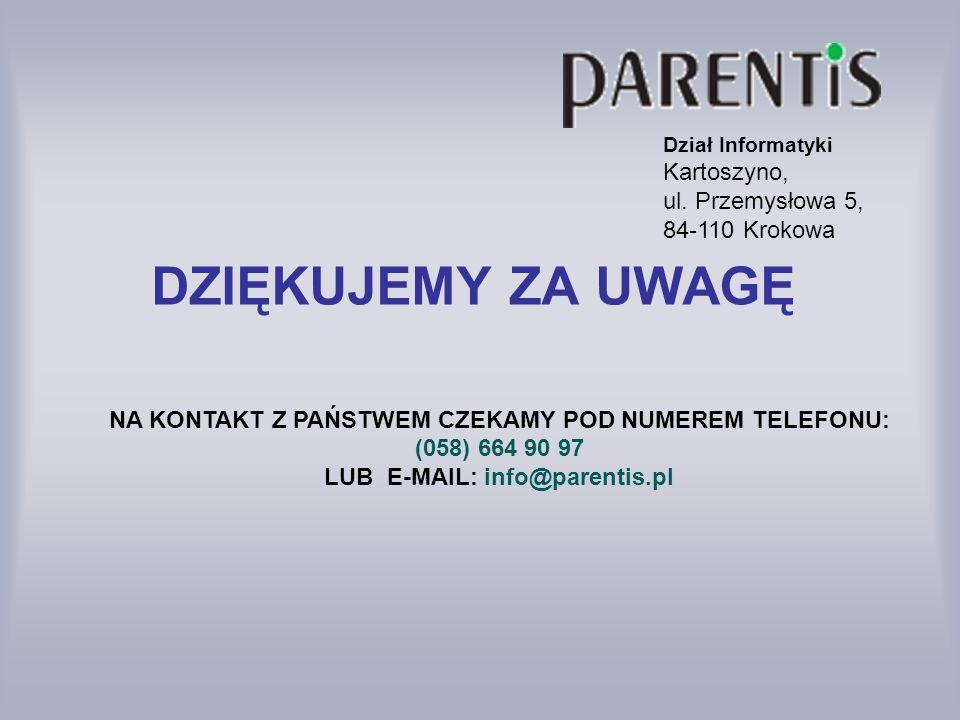 Dział Informatyki Kartoszyno, ul. Przemysłowa 5, 84-110 Krokowa