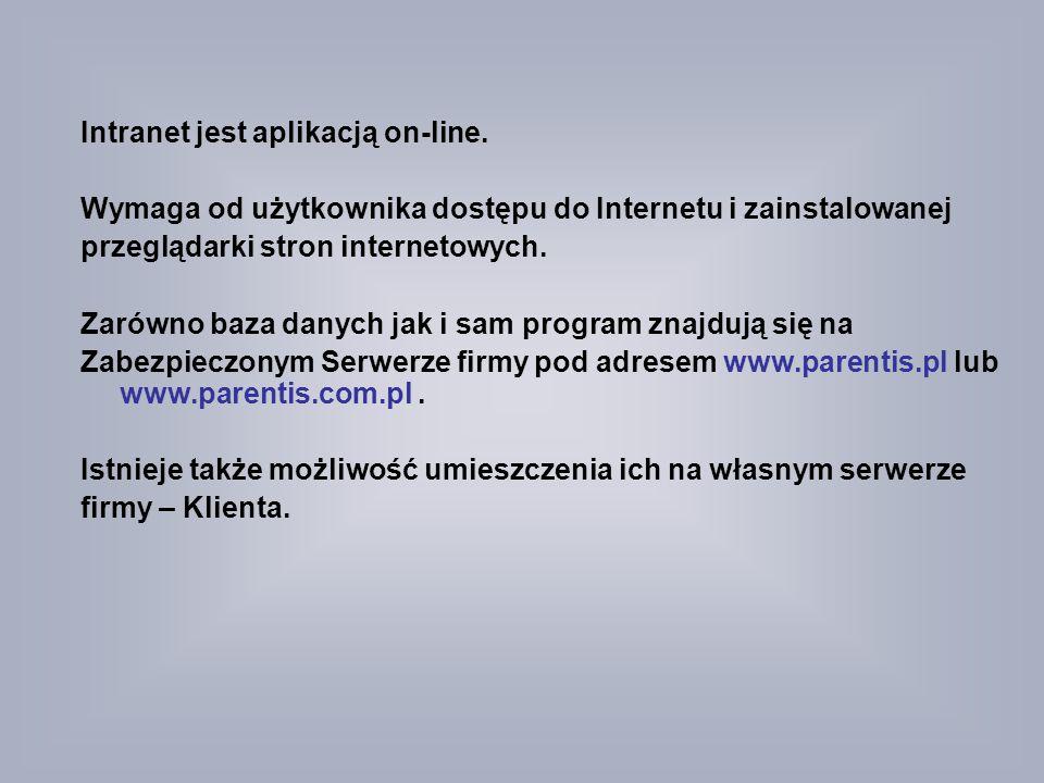 Intranet jest aplikacją on-line.
