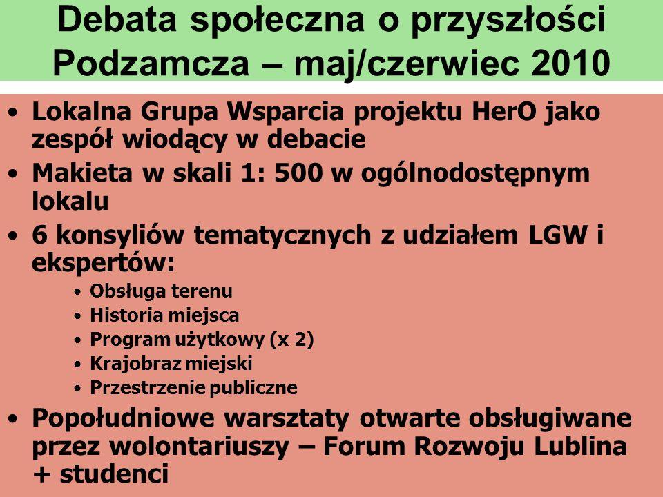 Debata społeczna o przyszłości Podzamcza – maj/czerwiec 2010