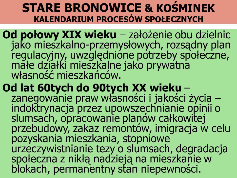 STARE BRONOWICE & KOŚMINEK KALENDARIUM PROCESÓW SPOŁECZNYCH