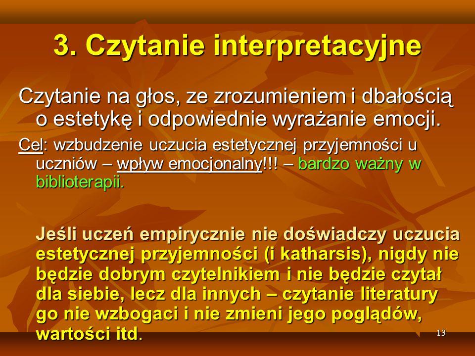 3. Czytanie interpretacyjne
