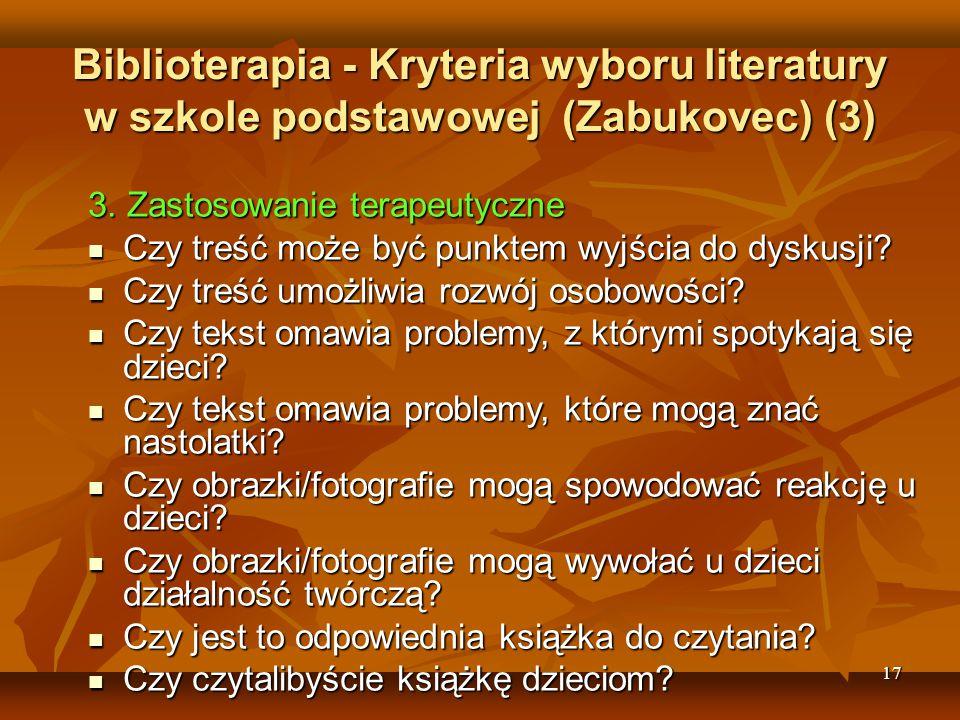 Biblioterapia - Kryteria wyboru literatury w szkole podstawowej (Zabukovec) (3)