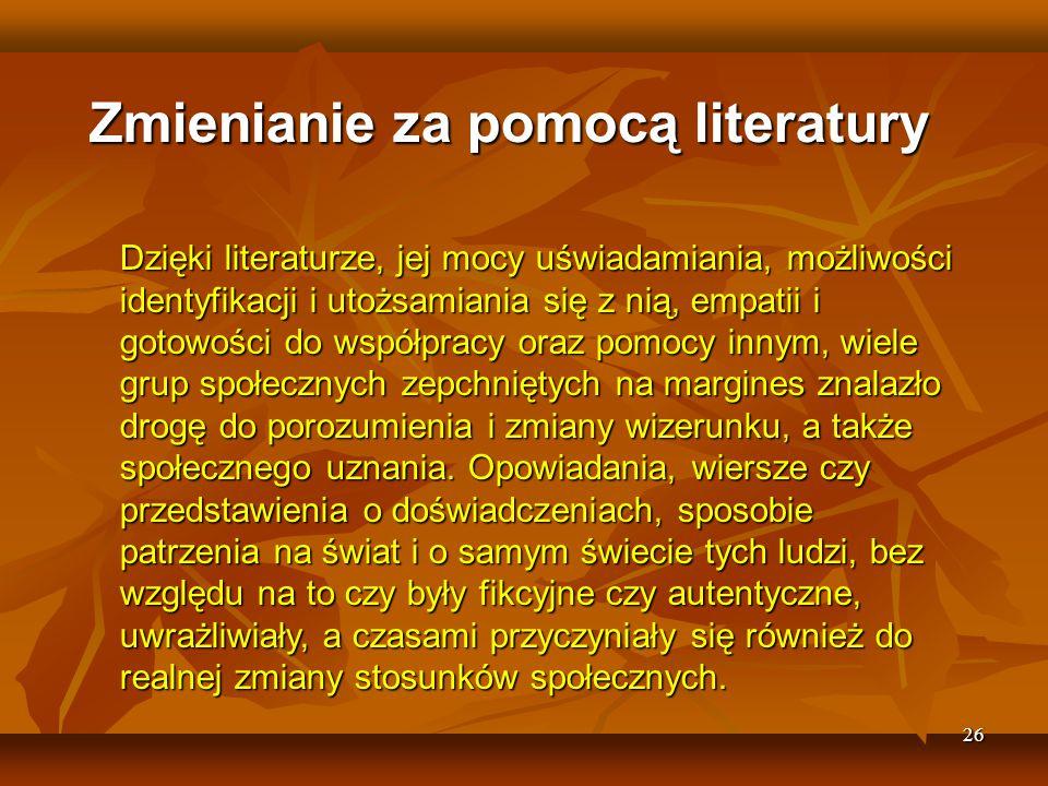Zmienianie za pomocą literatury
