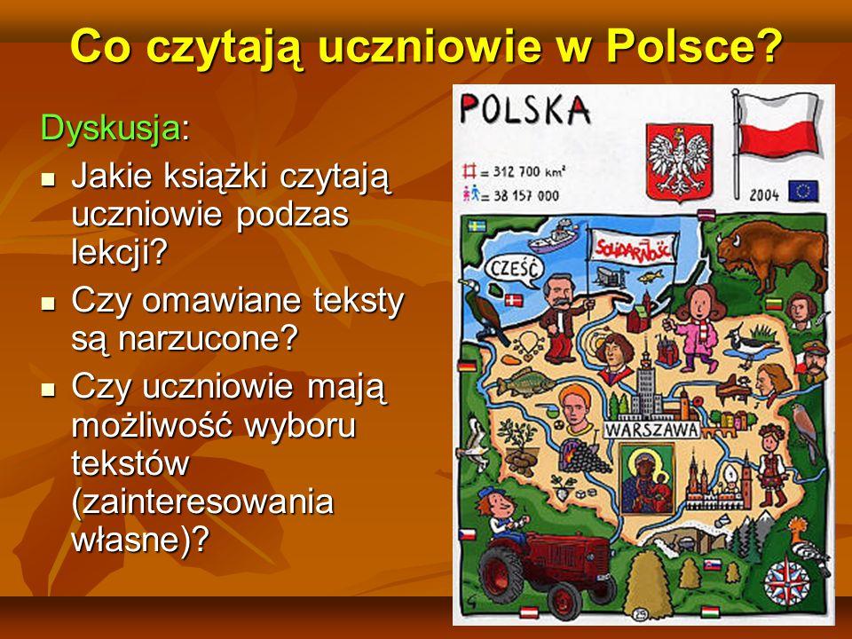 Co czytają uczniowie w Polsce