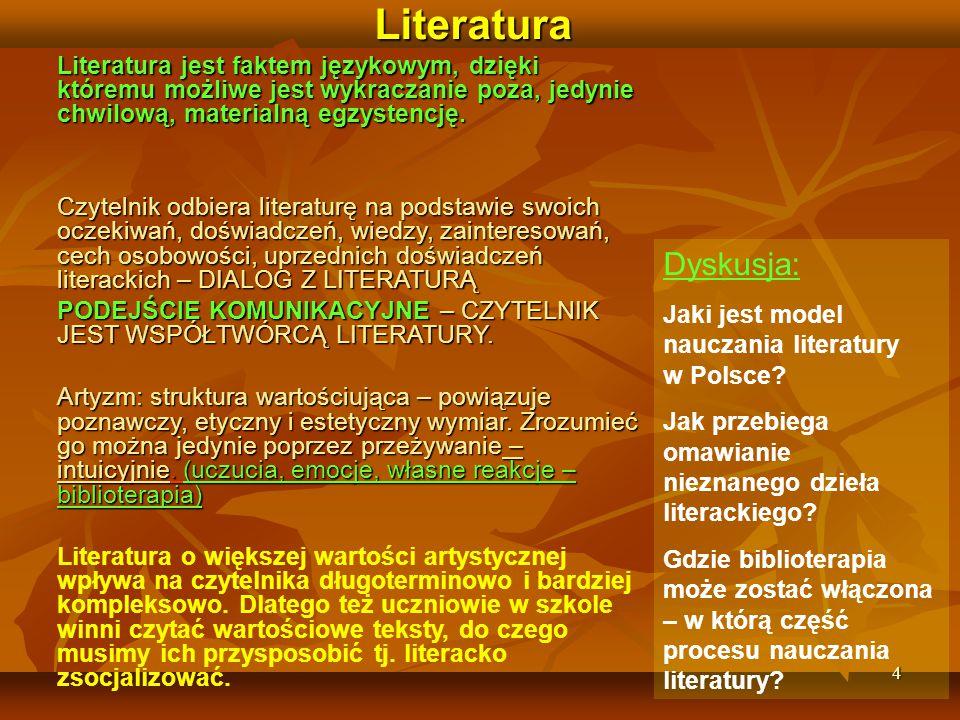 Literatura Literatura jest faktem językowym, dzięki któremu możliwe jest wykraczanie poza, jedynie chwilową, materialną egzystencję.