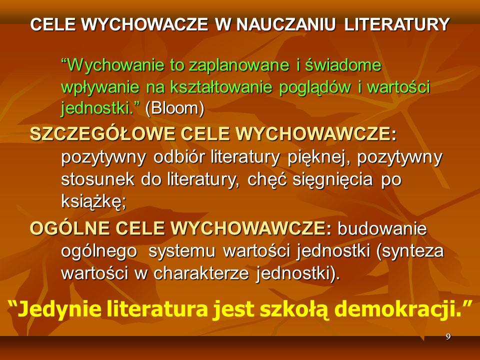 Jedynie literatura jest szkołą demokracji.