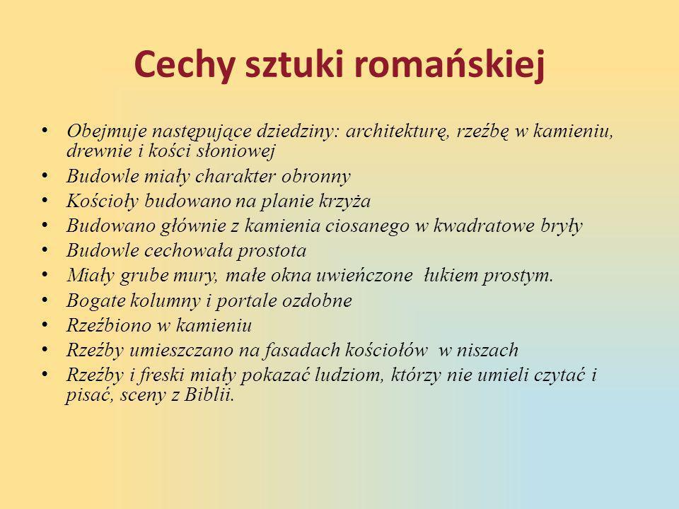Cechy sztuki romańskiej