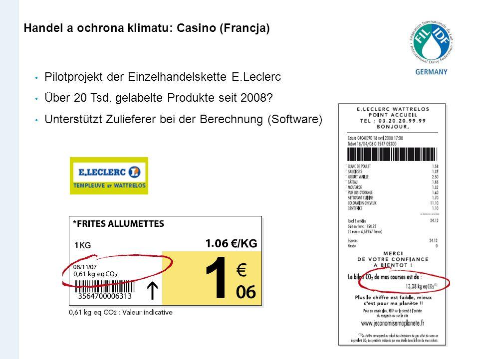 Handel a ochrona klimatu: Casino (Francja)