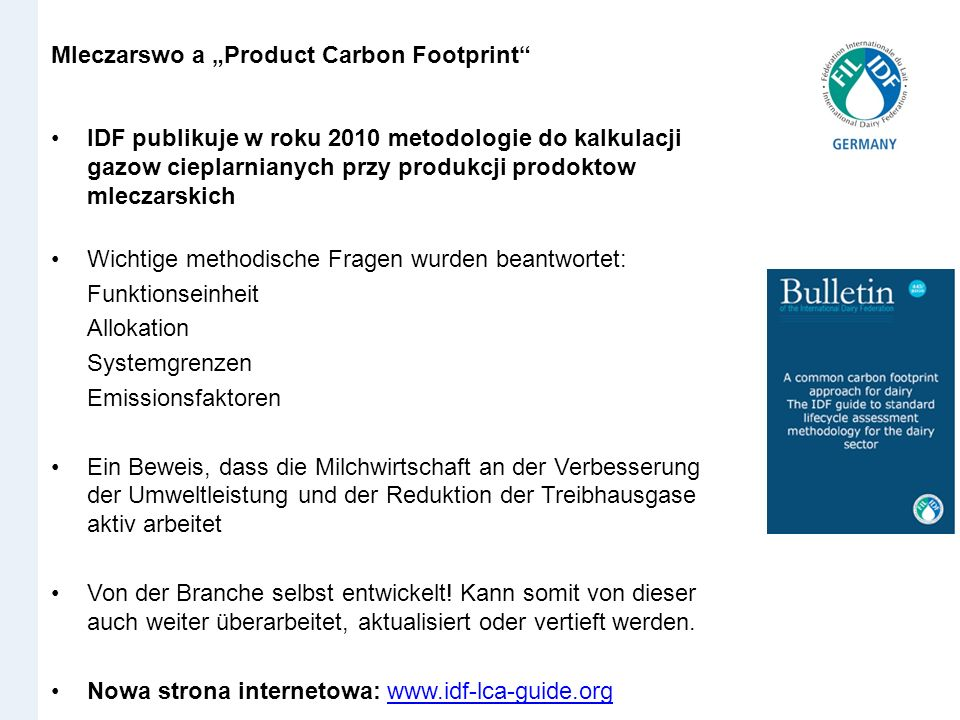 "Mleczarswo a ""Product Carbon Footprint"