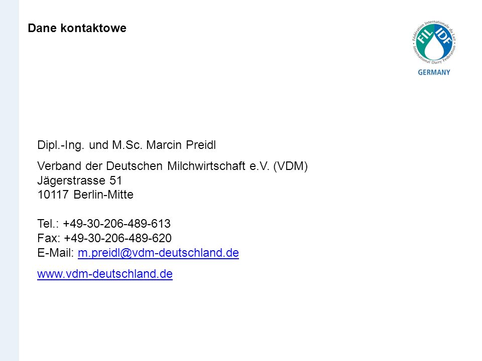 Dane kontaktowe Dipl.-Ing. und M.Sc. Marcin Preidl.