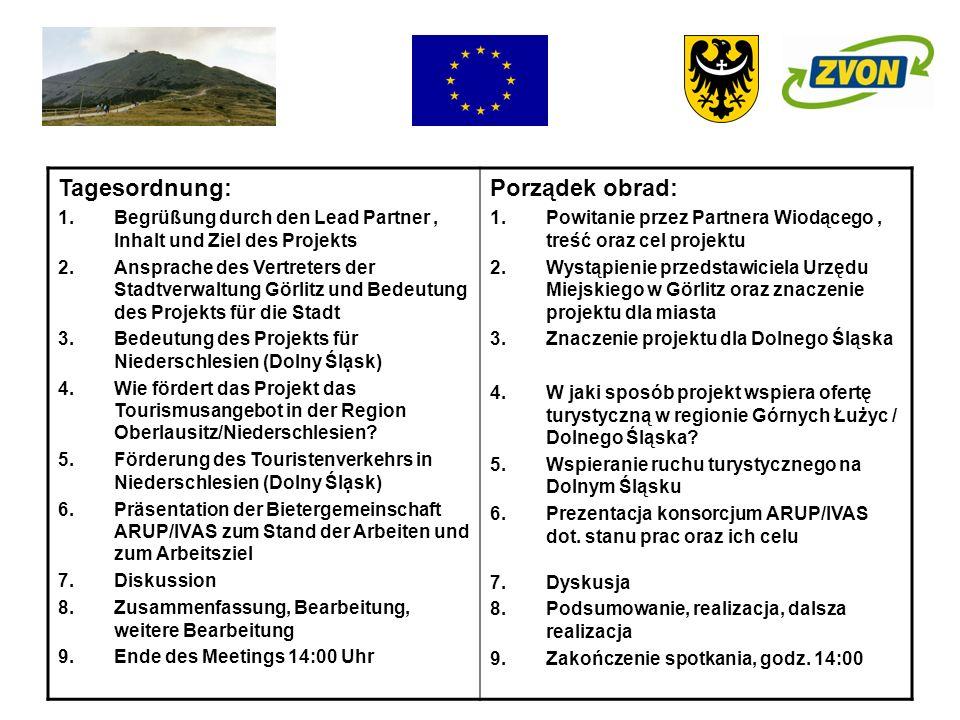 Tagesordnung: Porządek obrad: