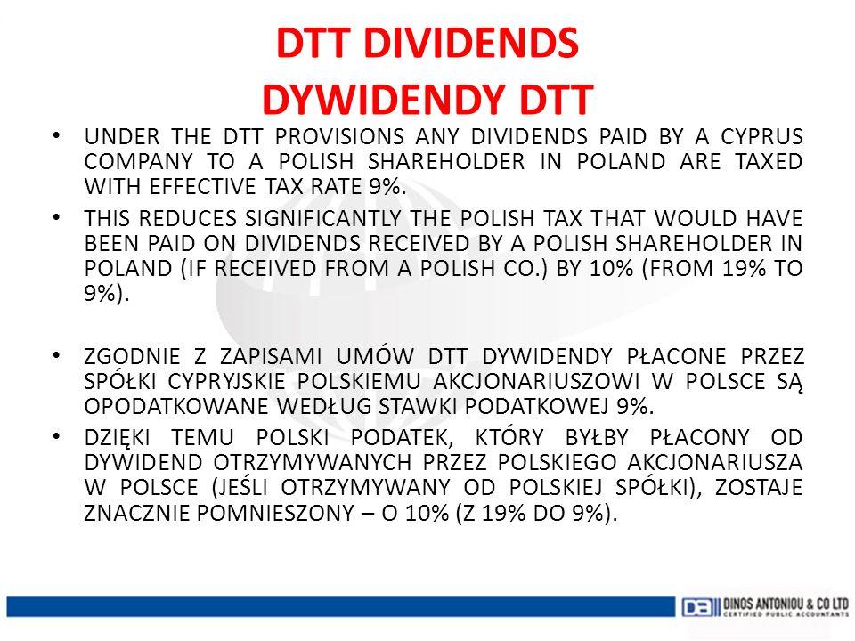 DTT DIVIDENDS DYWIDENDY DTT