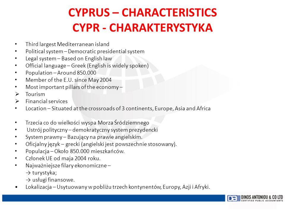 CYPRUS – CHARACTERISTICS CYPR - CHARAKTERYSTYKA