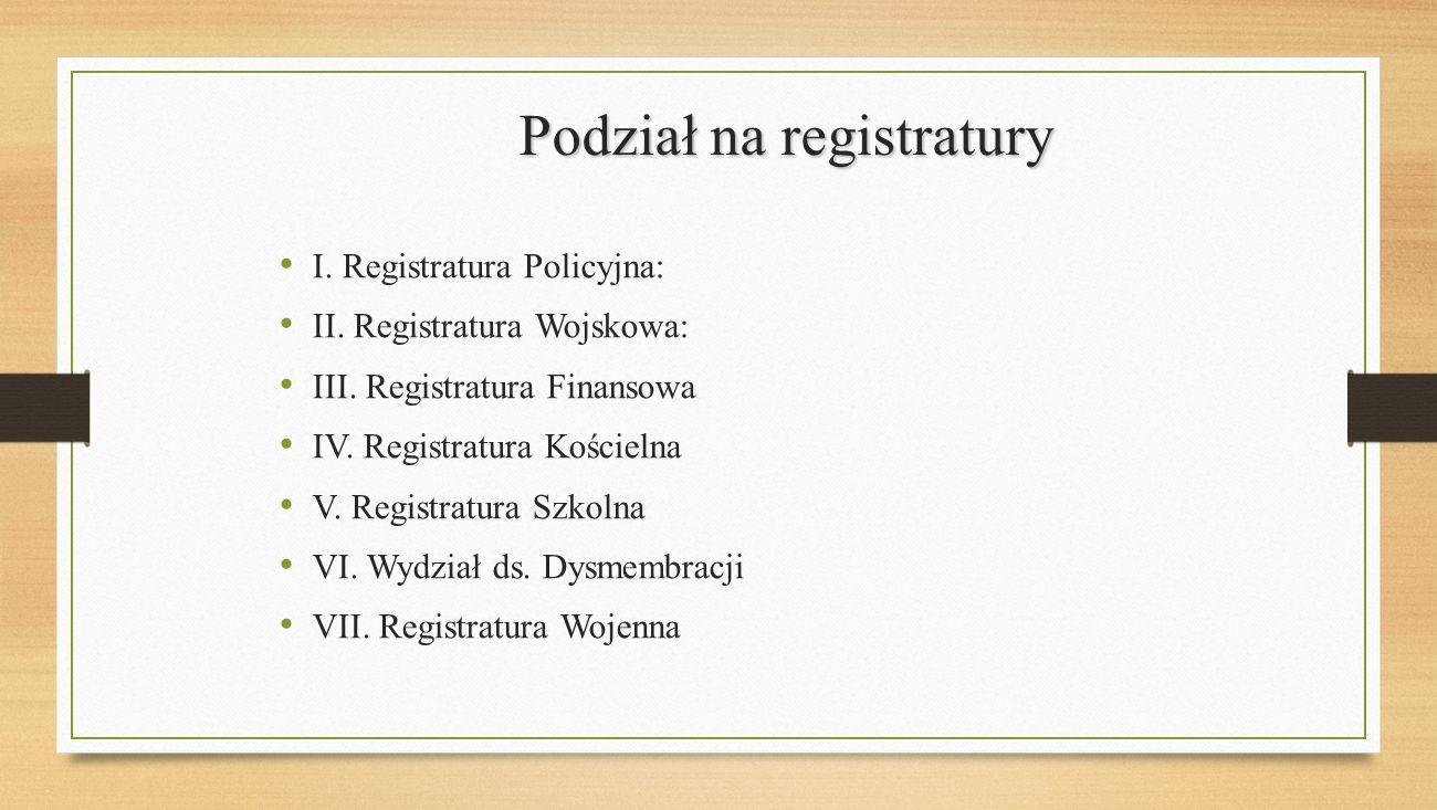 Podział na registratury