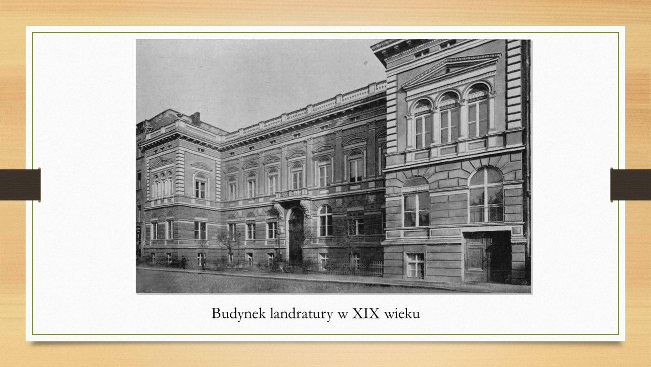 Budynek landratury w XIX wieku
