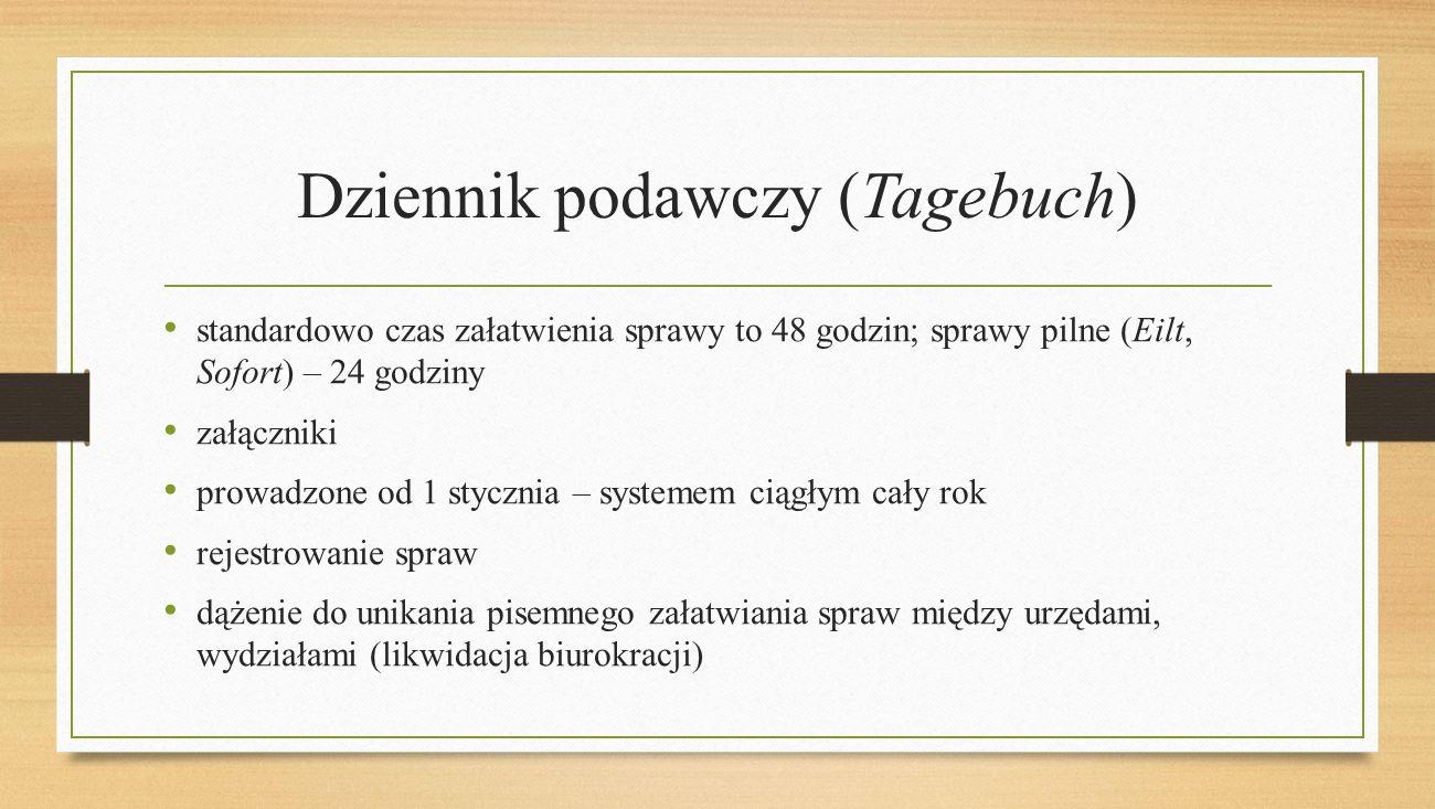 Dziennik podawczy (Tagebuch)