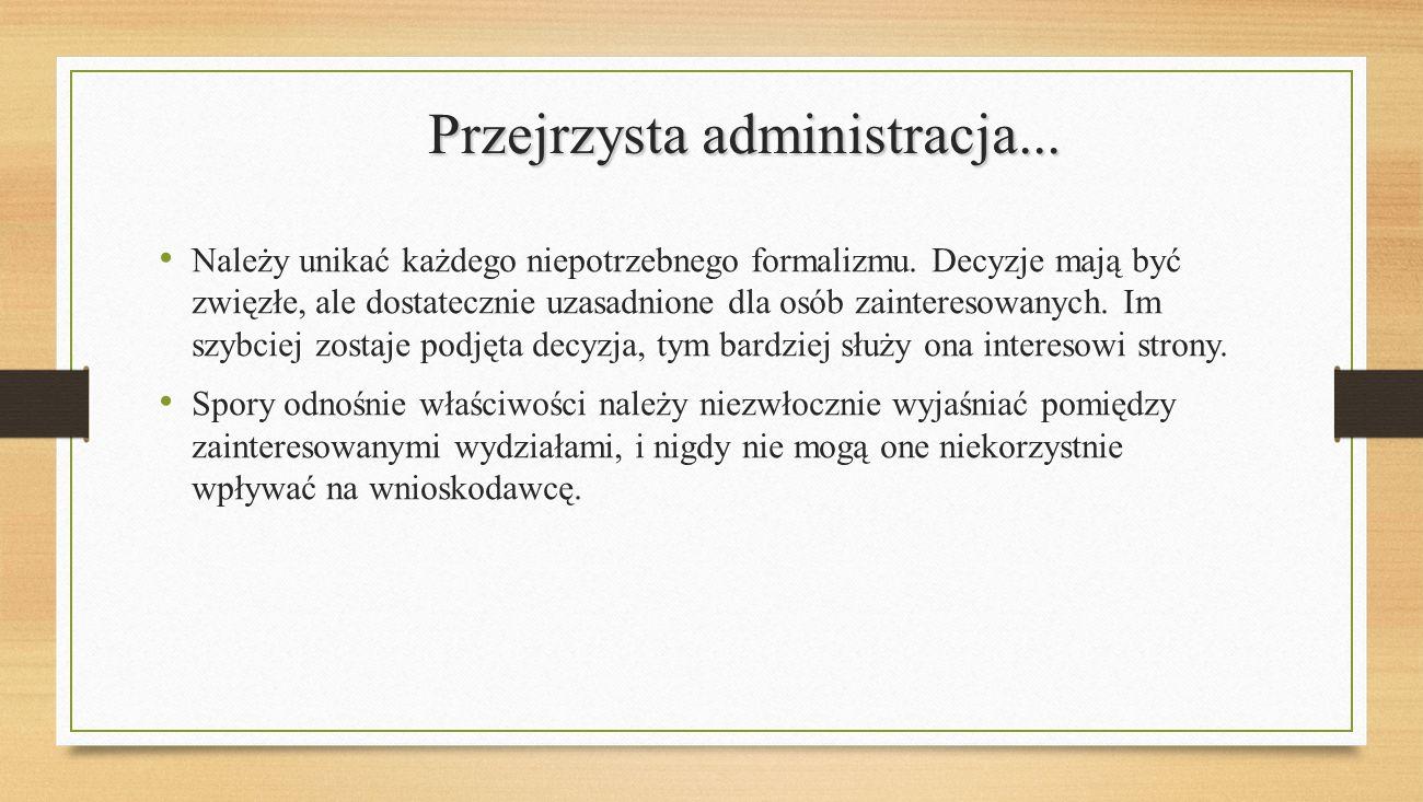 Przejrzysta administracja...