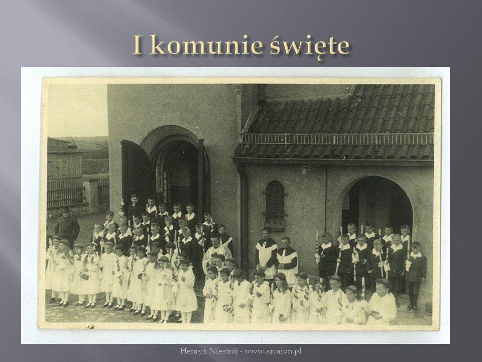 I komunia św. w przedwojennych Miedarach