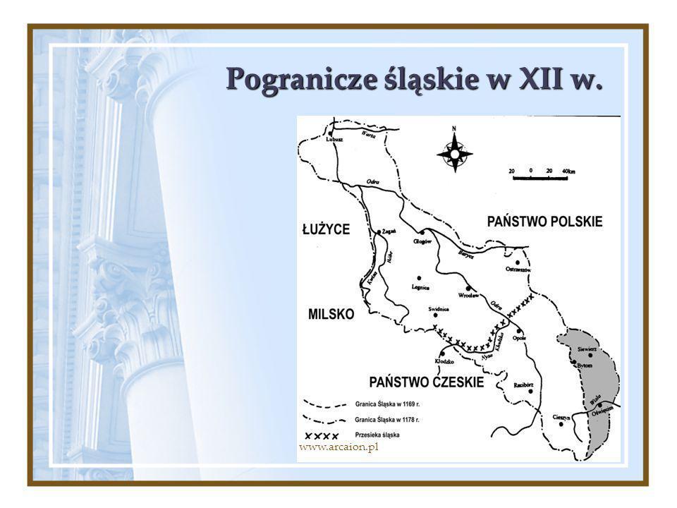 Pogranicze śląskie w XII w.