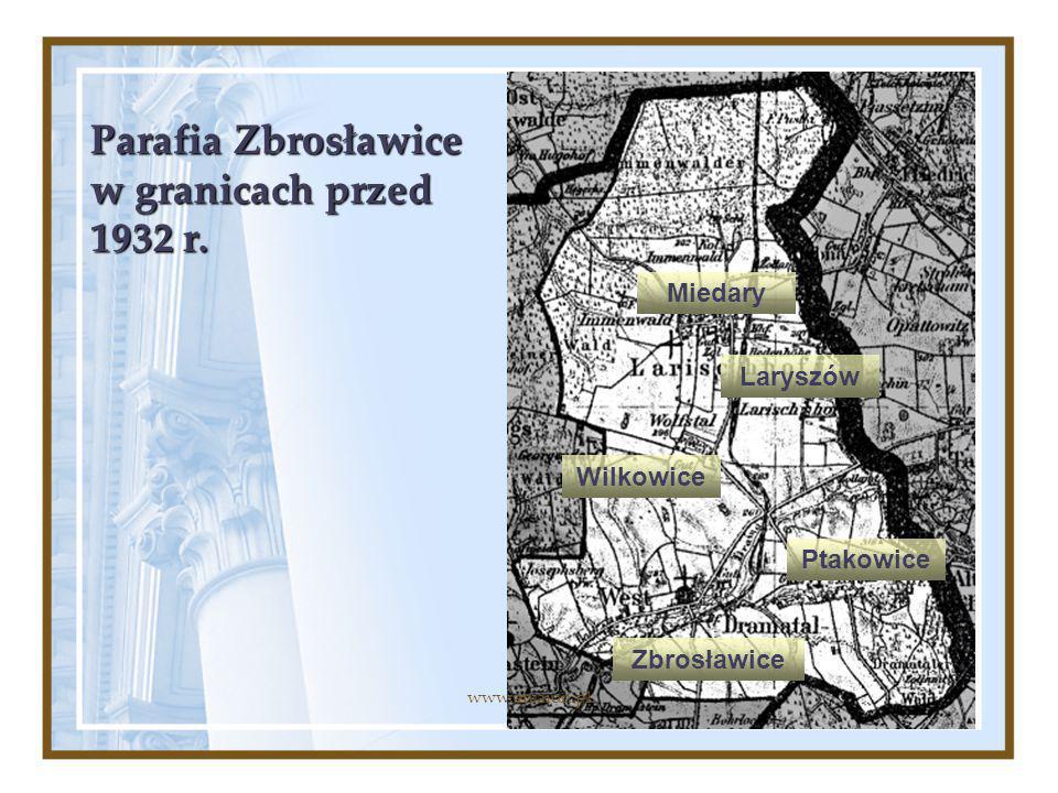 Parafia Zbrosławice w granicach przed 1932 r.