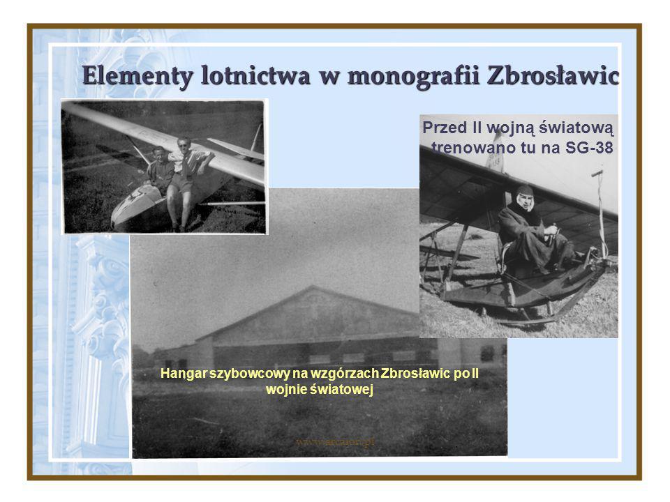 Elementy lotnictwa w monografii Zbrosławic