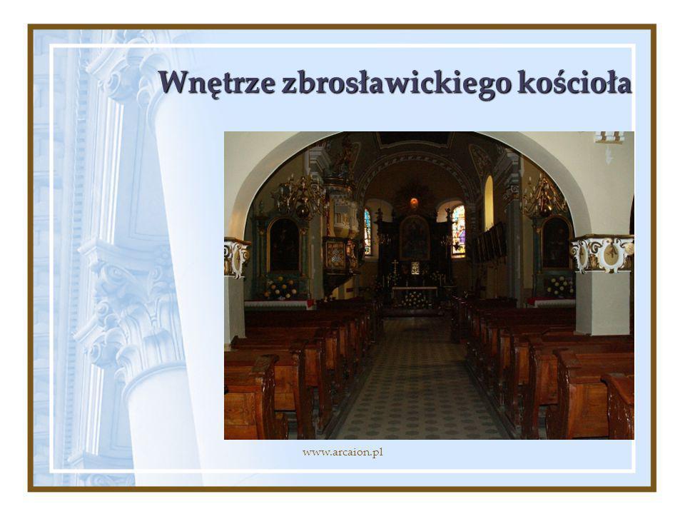 Wnętrze zbrosławickiego kościoła
