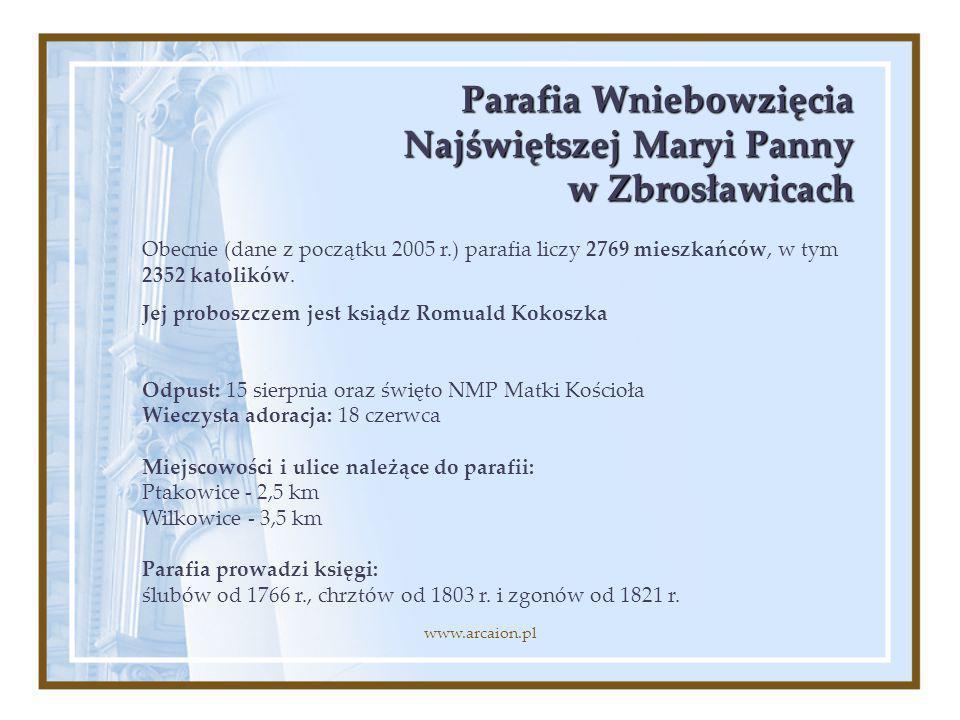 Parafia Wniebowzięcia Najświętszej Maryi Panny w Zbrosławicach