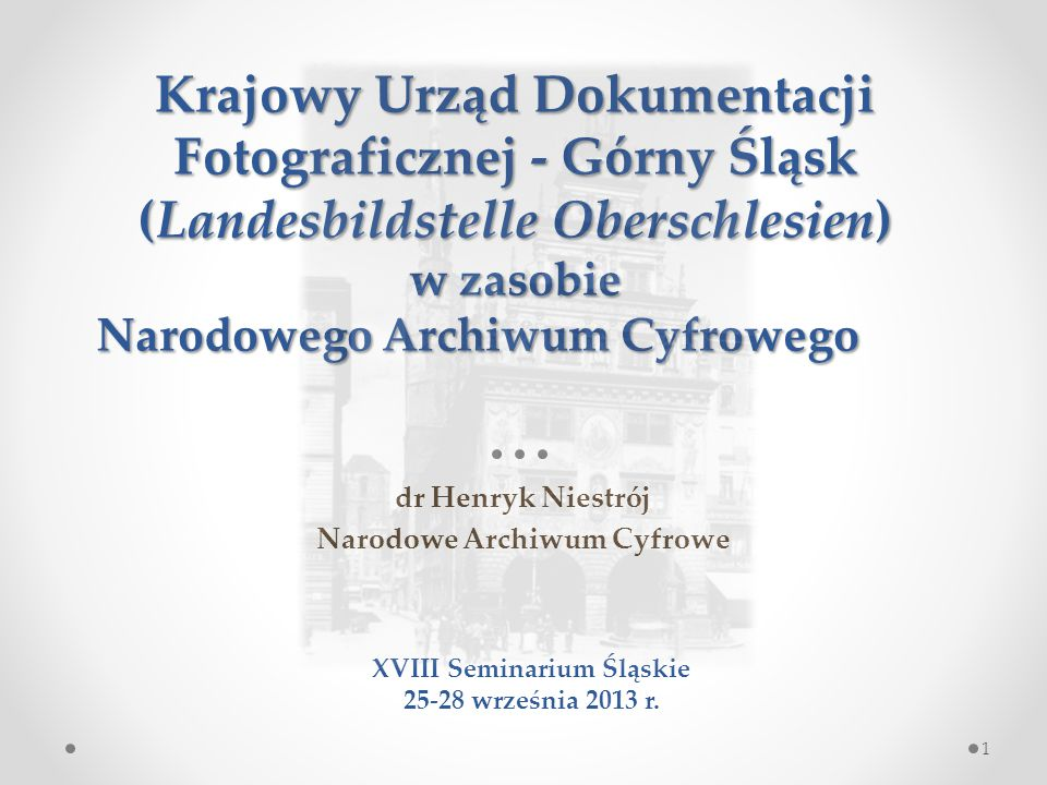 Narodowe Archiwum Cyfrowe XVIII Seminarium Śląskie
