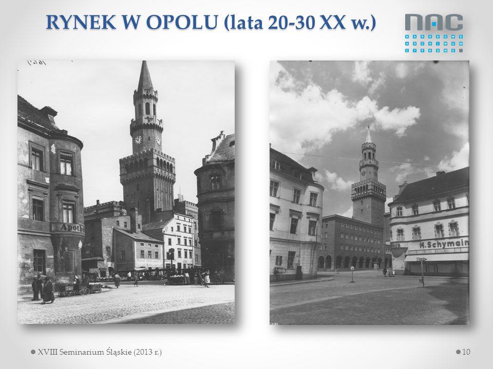 RYNEK W OPOLU (lata 20-30 XX w.)
