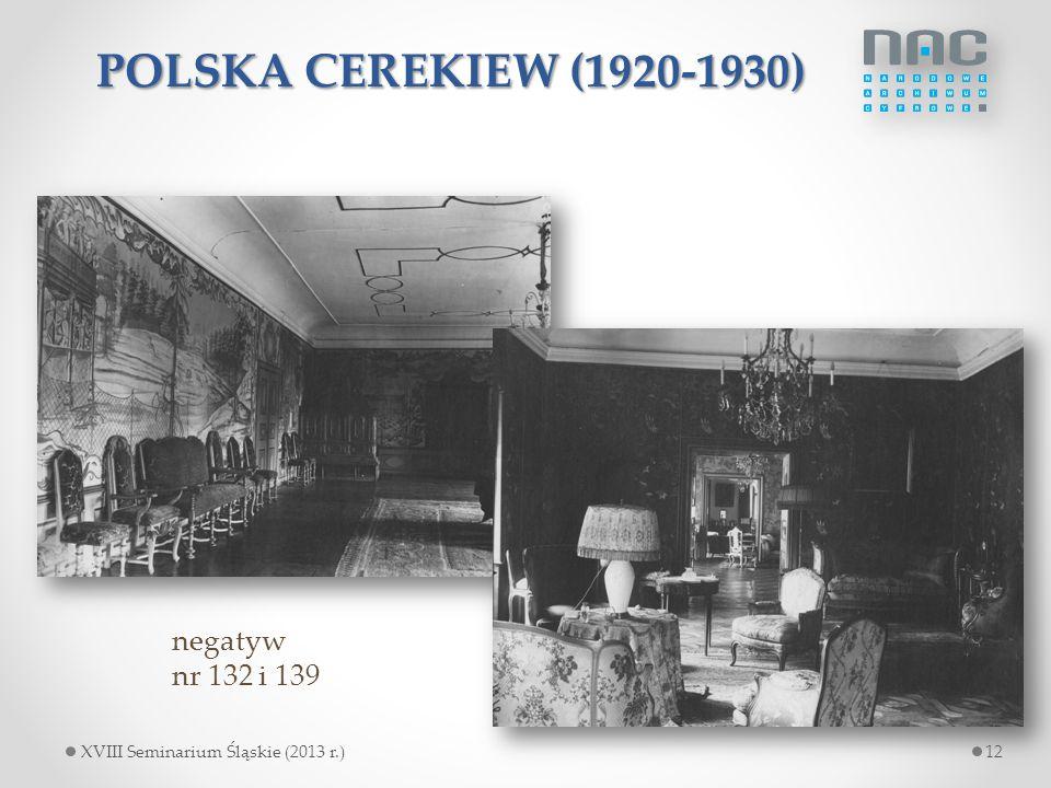 POLSKA CEREKIEW (1920-1930) negatyw nr 132 i 139