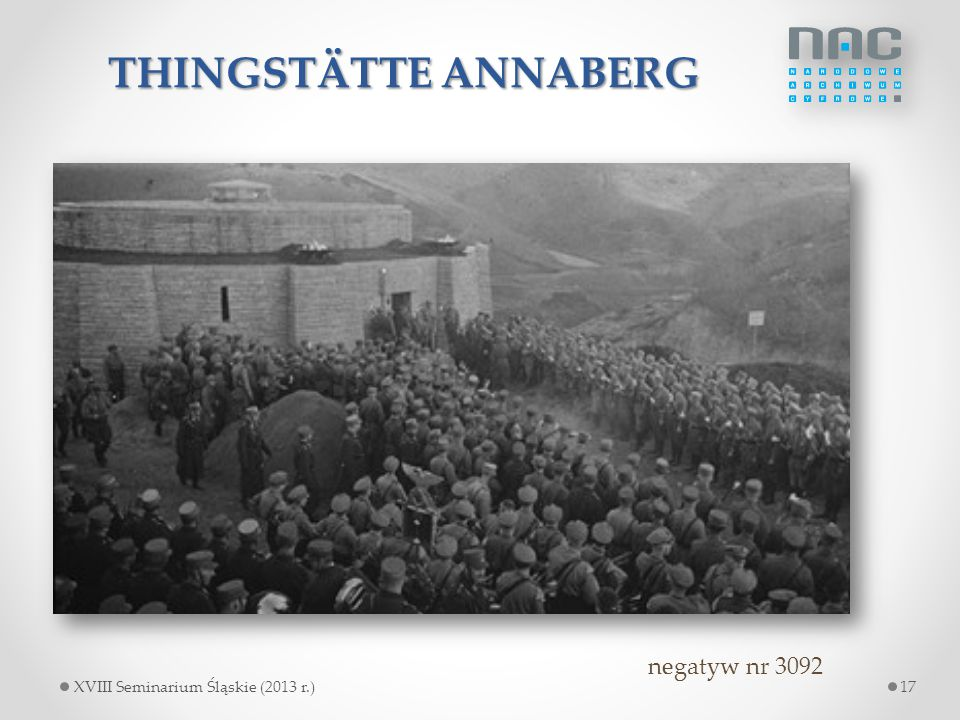 THINGSTÄTTE ANNABERG negatyw nr 3092