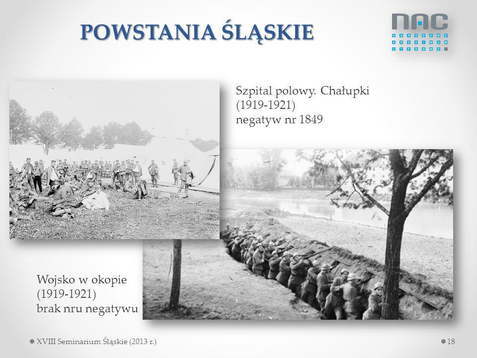 POWSTANIA ŚLĄSKIE Szpital polowy. Chałupki (1919-1921) negatyw nr 1849