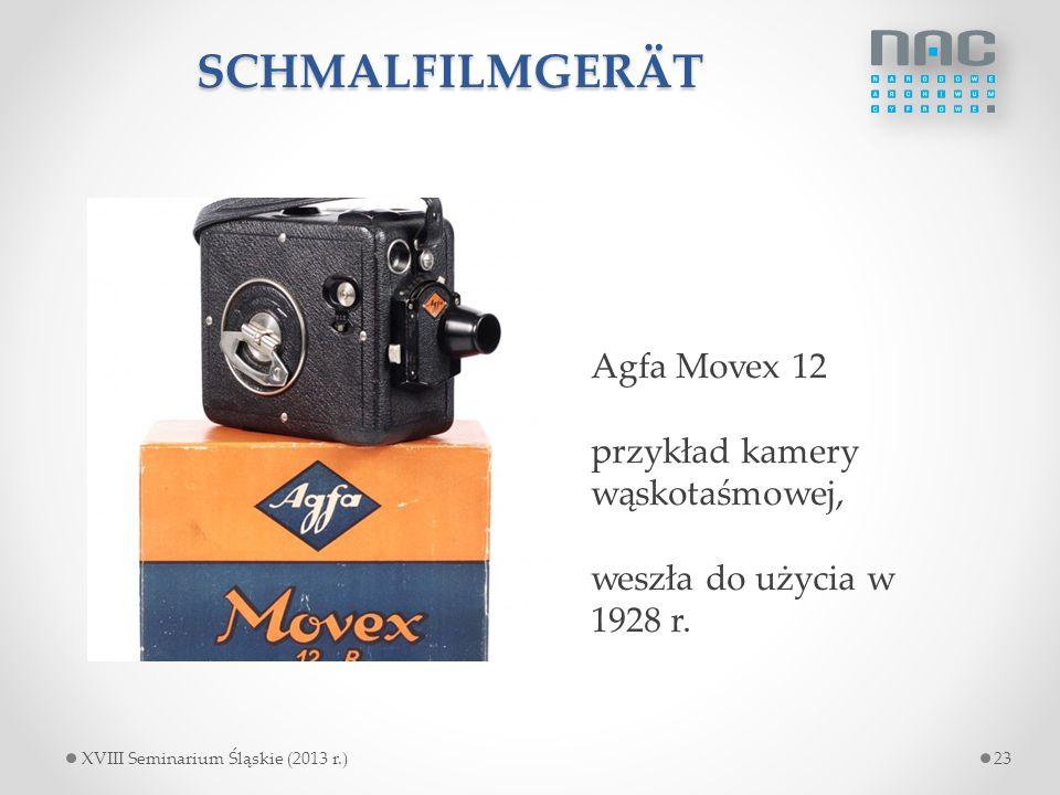 SCHMALFILMGERÄT Agfa Movex 12 przykład kamery wąskotaśmowej,