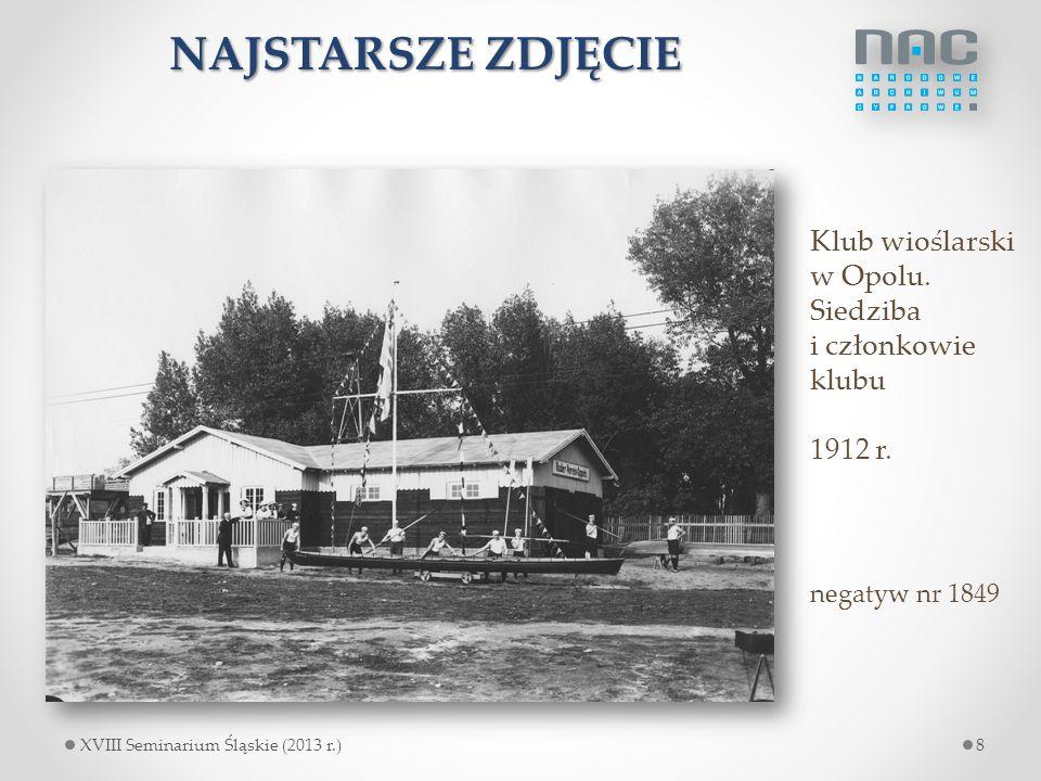 NAJSTARSZE ZDJĘCIE Klub wioślarski w Opolu. Siedziba