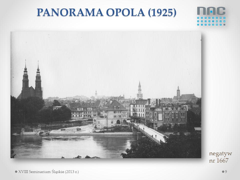 PANORAMA OPOLA (1925) negatyw nr 1667