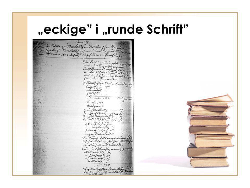 """""""eckige i """"runde Schrift"""
