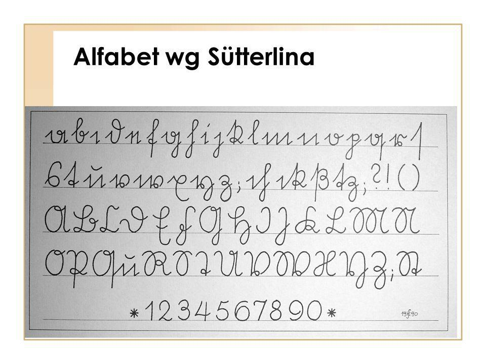 Alfabet wg Sütterlina