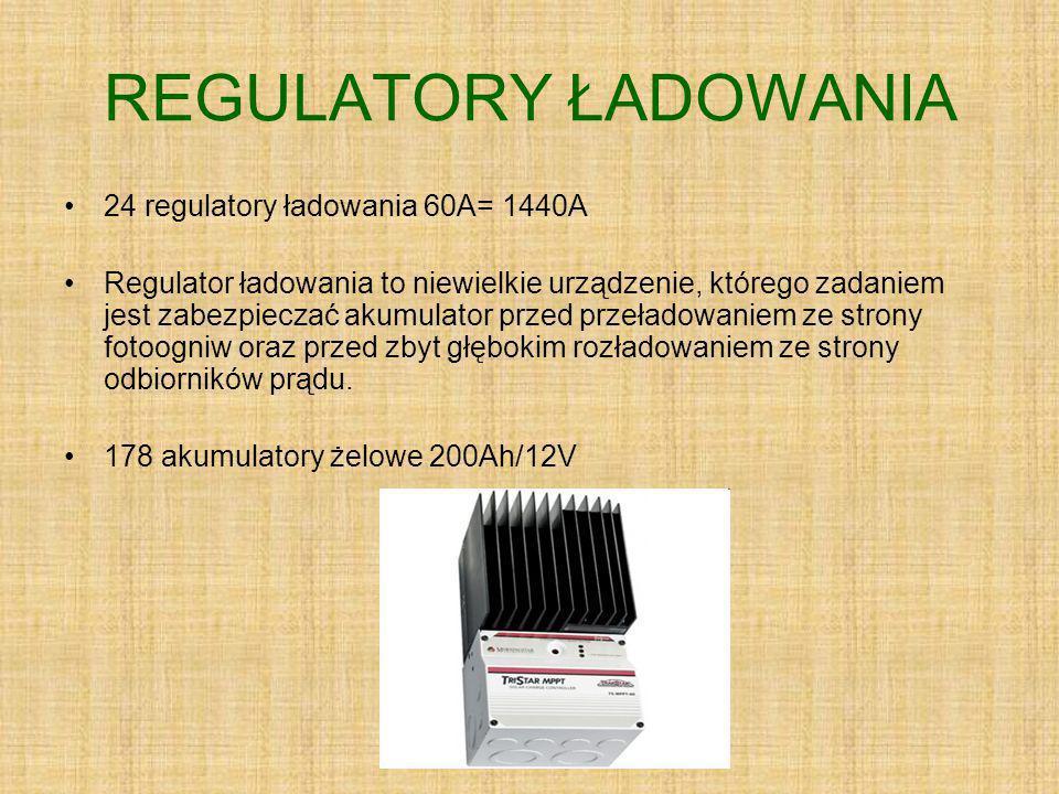 REGULATORY ŁADOWANIA 24 regulatory ładowania 60A= 1440A