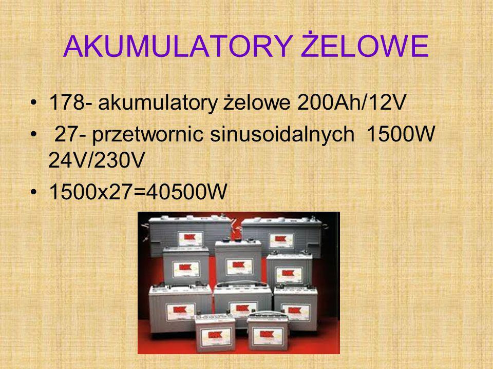 AKUMULATORY ŻELOWE 178- akumulatory żelowe 200Ah/12V