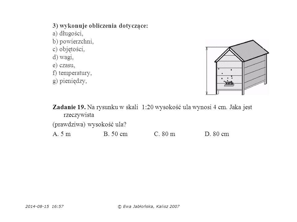 (prawdziwa) wysokość ula A. 5 m B. 50 cm C. 80 m D. 80 cm