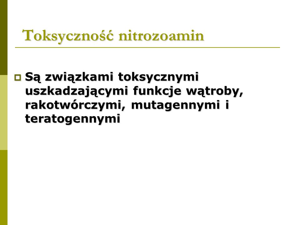 Toksyczność nitrozoamin