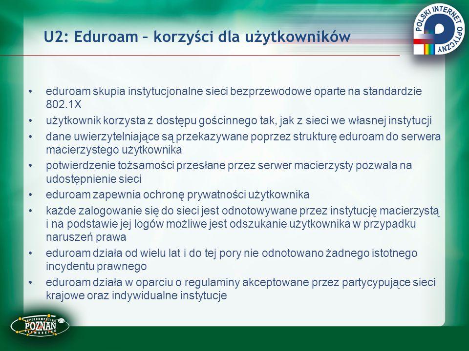 U2: Eduroam – korzyści dla użytkowników