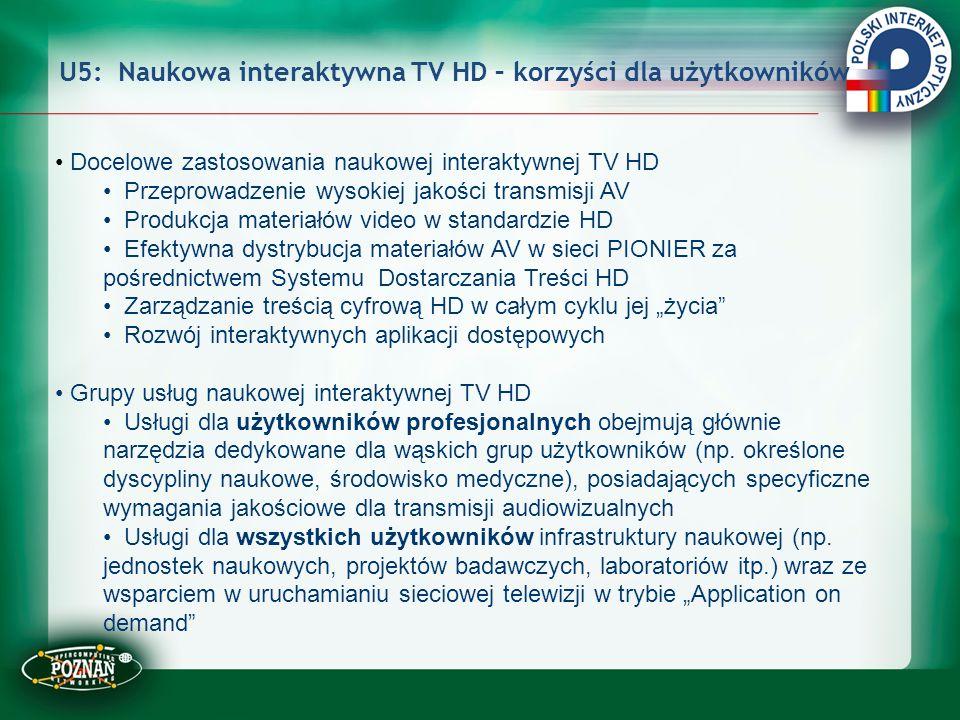 U5: Naukowa interaktywna TV HD – korzyści dla użytkowników