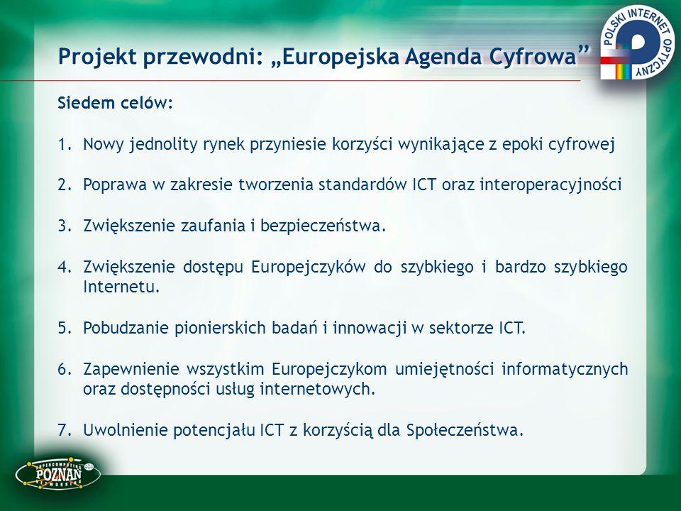 """Projekt przewodni: """"Europejska Agenda Cyfrowa"""