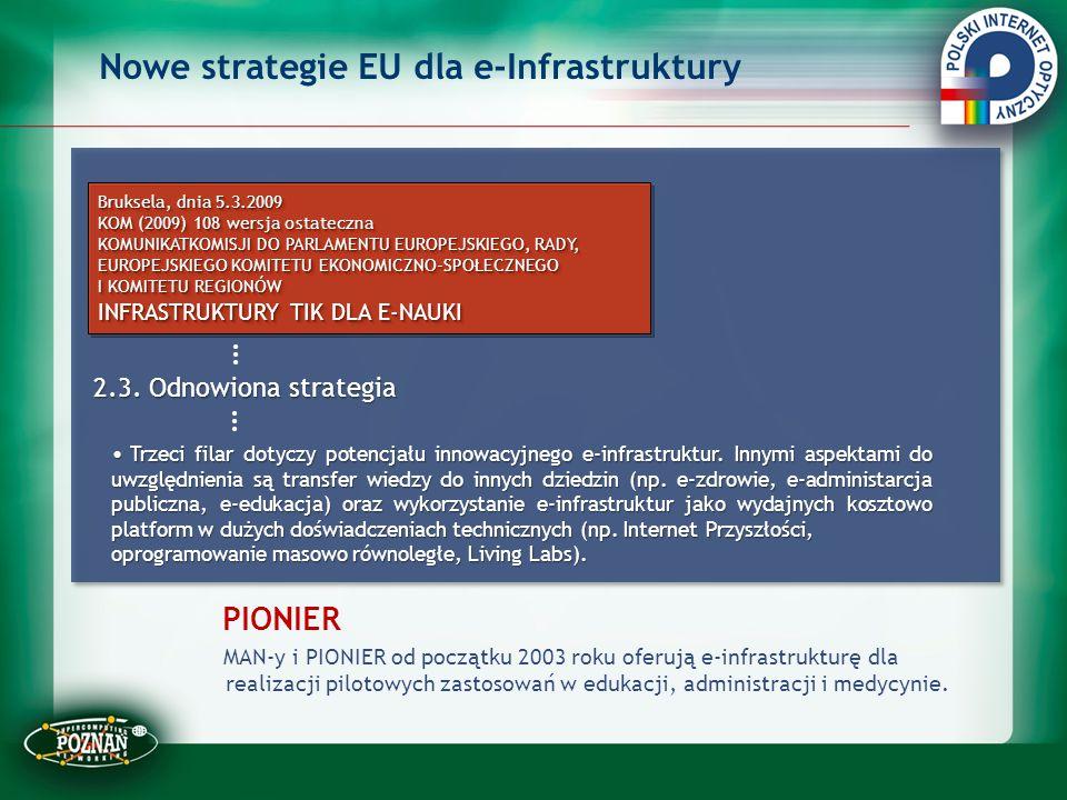 Nowe strategie EU dla e-Infrastruktury