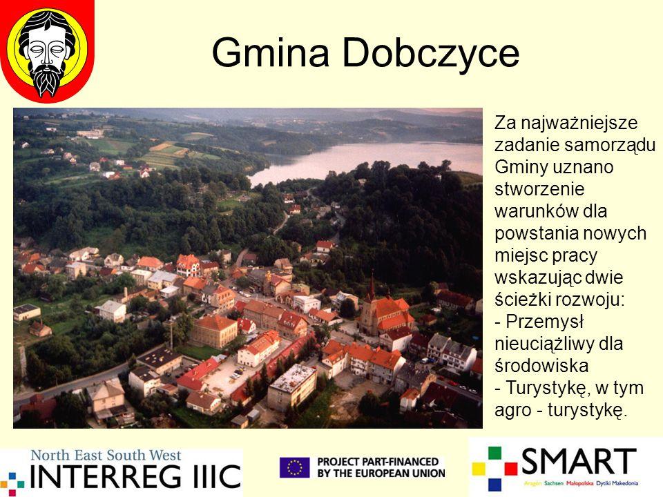 Gmina Dobczyce Za najważniejsze zadanie samorządu Gminy uznano stworzenie warunków dla powstania nowych miejsc pracy wskazując dwie ścieżki rozwoju: