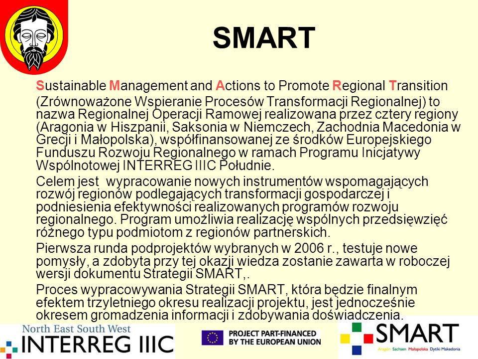 SMART Sustainable Management and Actions to Promote Regional Transition.