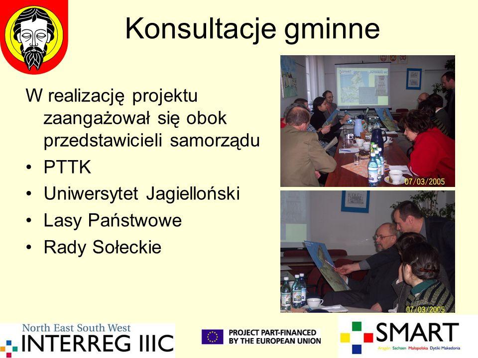 Konsultacje gminne W realizację projektu zaangażował się obok przedstawicieli samorządu. PTTK. Uniwersytet Jagielloński.